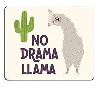 ゲーミングマウスパッドカスタム、サボテンとかわいいラマアルパカ手描きの漫画マウスパッドレタリング引用Npプロブラマ