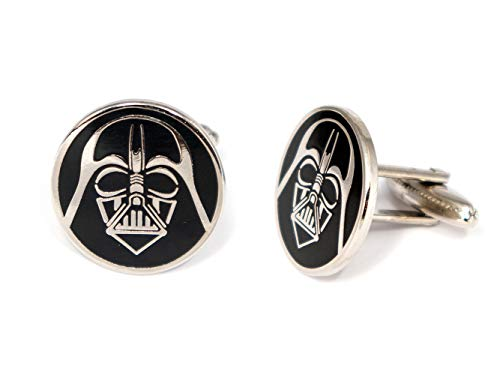 SharedImagination Darth Vader Cufflinks, Star Wars Tie Clip, Jedi Tie Tack Jewelry, Darth Vadar Cuff Links, Kylo Stormtrooper Death Star Gift, Star Wars Wedding Party Groomsman Gifts