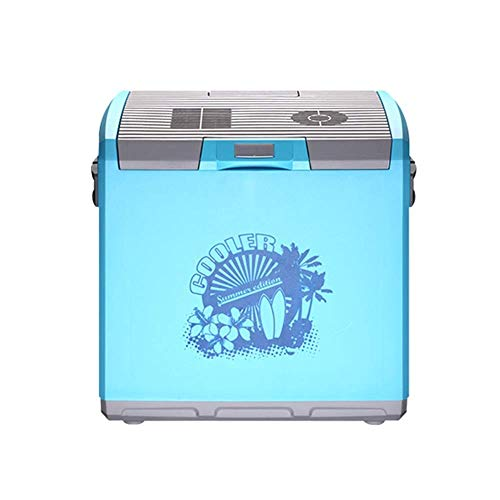 Koelkast auto, Mini koelkast 12v 220v, Portable Cool Box Electric Cooler Box Warmer Freezer 30 Liter (Kleur: Licht blauw, Maat: B) LOLDF1 (Color : Light Blue, Size : B)
