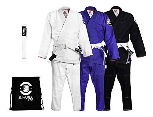 Kimono JIU Jitsu BRASILEÑO Brazilian JIU-Jitsu BJJ Jiujitsu GI Colores Bolsa (A1, Negro)