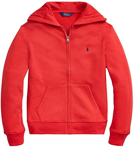 Polo Ralph Lauren Kapuzen-Sweatjacke für kleine Jungen, mit Reißverschluss, Größe M, HolidayRed