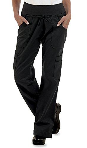 ChefUniforms.com Womens Stretch Yoga Cargo Chef Pant,Black,Medium