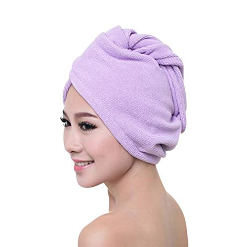 Ehghsgduh Bath Towel Hair Quick Dry Shower cap Lady Bath Towel Wash Hair Warm Product Shower cap Head Wrap Bathing Tools for Lady Man,Plum,China