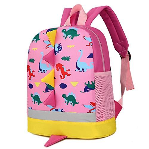 BAIGIO Mochila Infantil Kindergarten,Pequeñas Mochilas Bolsas Escolares Animales para Niñas Primaria Linda Mochila Dinosaurio 3D Guarderia Preescolar para 2-7 Años (Pink)