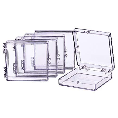BENECREAT 8 Pack Caja Plástica de Alta Transparencia Contenedores de Plástico Cajon Organizadores para Artículos de Belleza Cuentas Pequeñas Joyería
