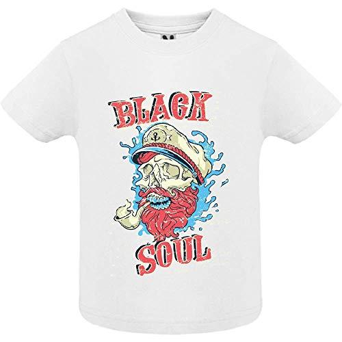 LookMyKase T-Shirt - Black Soul - Bébé Garçon - Blanc - 2ans