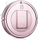 SEESEE.U Robot de Limpieza Eyugle KK290A Robot Aspirador de Barrido 500pa Succión 3 Modo de Limpieza 5cm Aspiradora robótica anticolisión anticolisión, Rosa (Color: Oro Rosa)