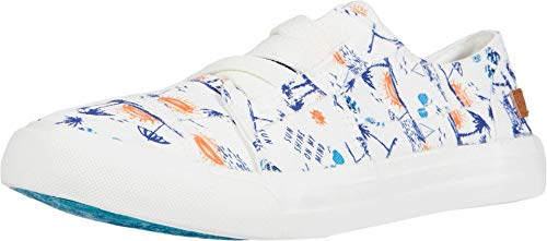 Blowfish Malibu womens Fashion Casual Sneaker, Off White Summer Lovin Print, 7.5 US