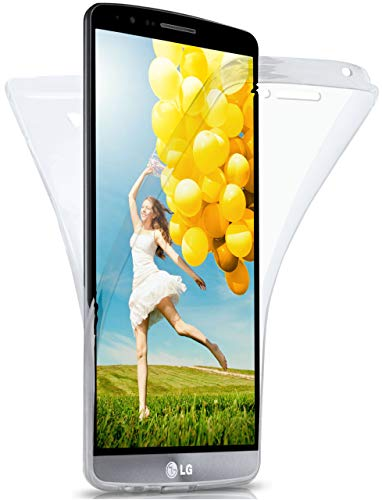 MoEx Funda Protectora 360º de Silicona Compatible con LG G3   Transparente, Transparent