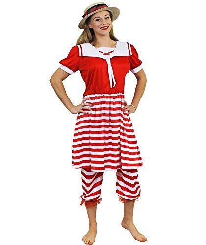 I LOVE FANCY DRESS LTD Disfraz DE BAÑISTA DE LOS AÑOS 20 para Mujer Conjunto TEMATICO para Mujer con Camisa, Pantalones Y Sombrero Fiestas TEMATICAS O Carnaval (M)