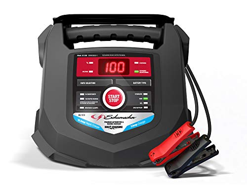 Schumacher SC1280 15 Amp 3 Amp 6V/12V Fully Automatic Smart Battery Charger Maintainer Auto Desulfator Auto 6V/12V Battery Detection For Cars, Trucks, SUVs, Marine, RV Batteries
