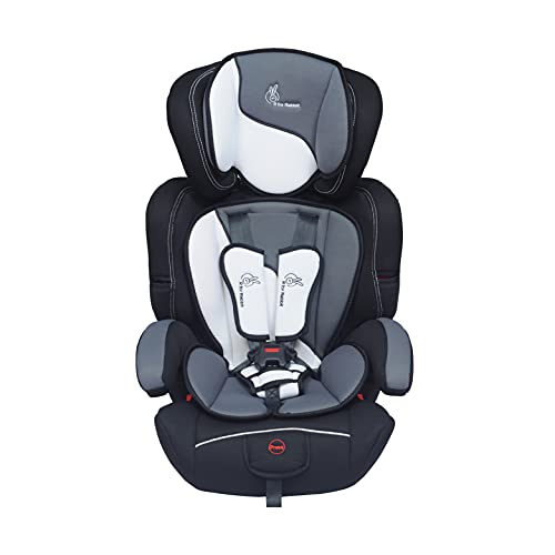 R for Rabbit Jumping Jack Grand Convertible Baby Car Seat of 0 to 12 Years Age Innovative ECE R44/04 Safety Certified Growing Car Seat for Kids(Black White)