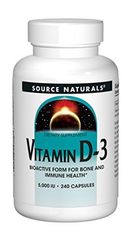 Source Naturals Vitamin D-3 5000 iu Supports Bone & Immune Health - 240 Capsules