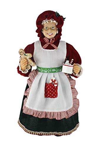 "16"" Inch Standing Mrs. Santa Claus Christmas Figurine Figure Decoration 167180"