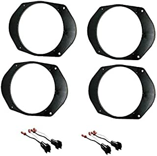 2 Pair Car Stereo Install Aftermarket Speakers 6x8 Converter to 6.5