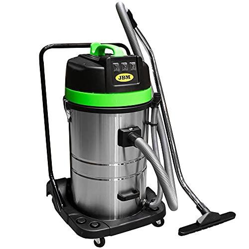 Aspirador industrial 3000 W de 80 litros (seco y agua)