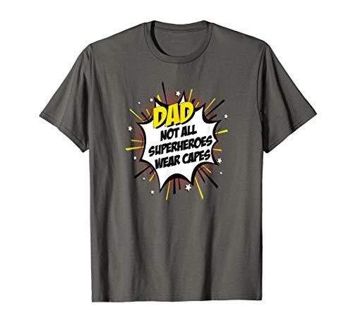 Vati Superhelden-Print Lustige Comic Väter Geschenkidee T-Shirt