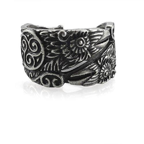 URBANTIMBER Ring Hugin & Munin mit Triskele - Silber oder Bronze/Gold