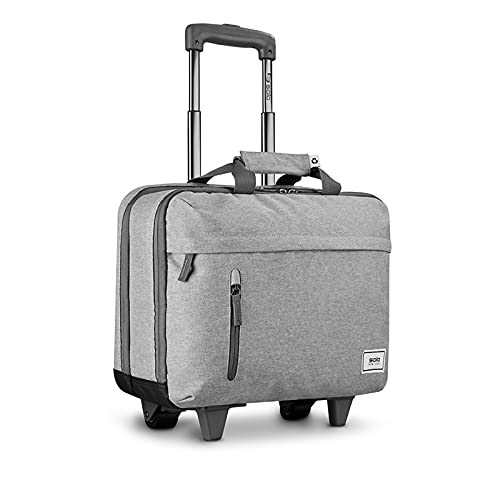 Solo New York Re:Start Rolling Laptop Bag, Grey