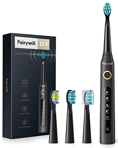 Fairywill Electric Toothbrush Powerful Sonic Cleaning - ADA...