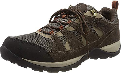 Columbia Redmond V2, Zapatos de Senderismo Impermeables Hombre, Marrón (Mud, Dark Adobe), 43 EU