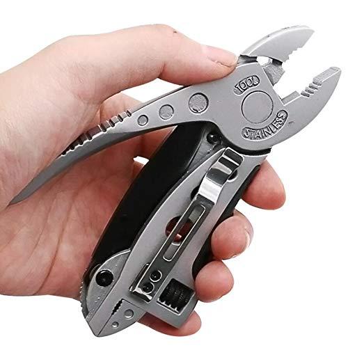 Mini Multitool Pinces Couteau de poche tournevis Kit mâchoire ajustable Clé Spanner Réparation de survie Outils à main multi