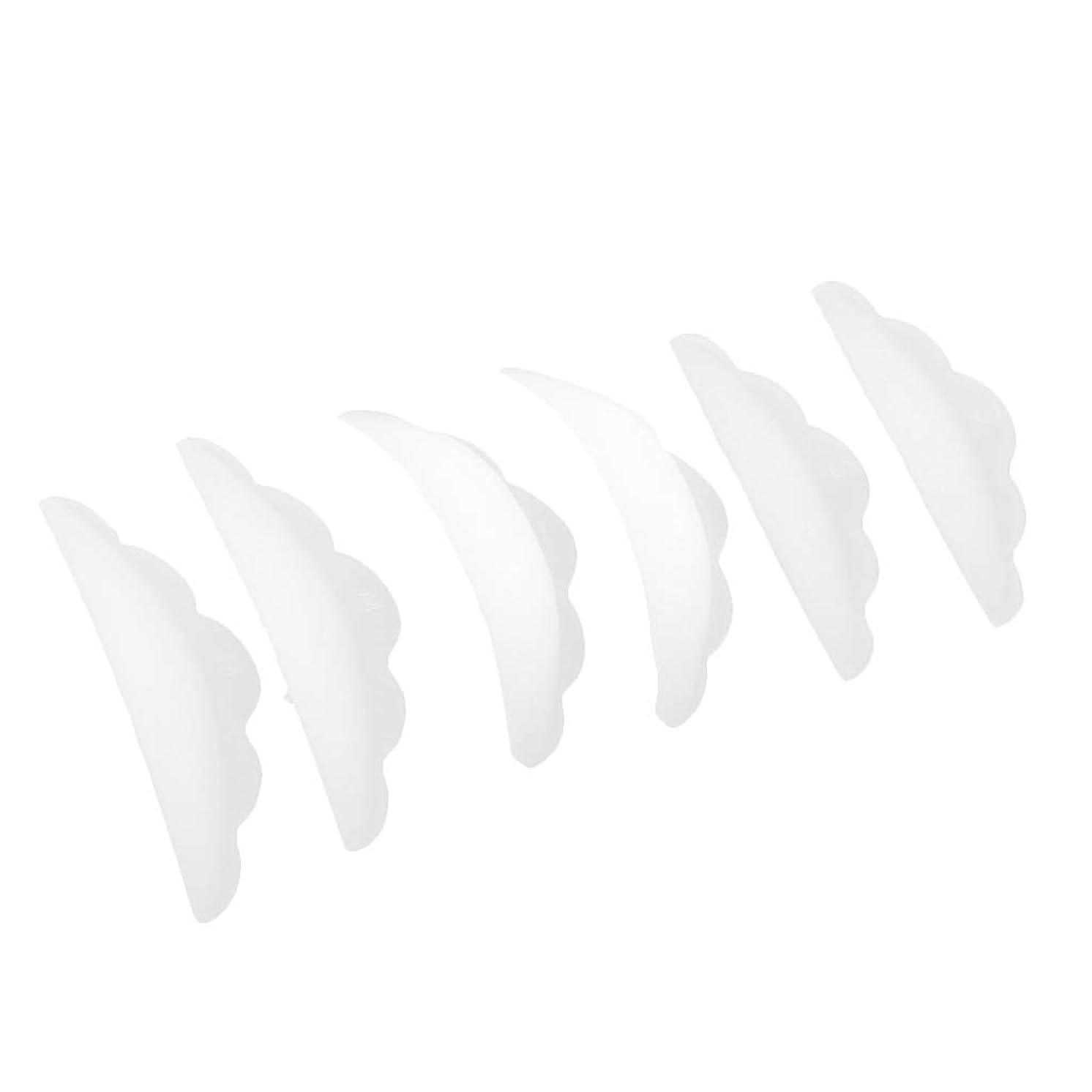 歩き回るイースター謎CUTICATE まつげ エクステンション パーマパッド まつげ 3Dシリコーン 柔らかく 快適 3ペア入り