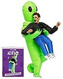 Déguisement Gonflable Alien | Costume Gonflable Insolite | Qualité Premium | Taille Adulte | Polyester | Agréable à Porter | Résistant | Système de Gonflage Inclus | Créé par OriginalCup®
