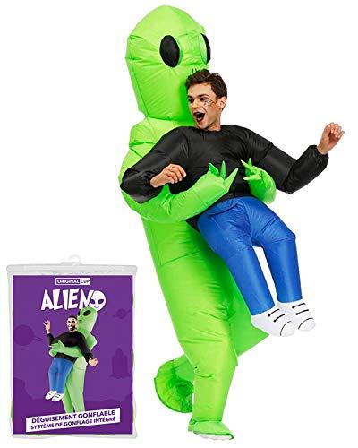 Aufblasbares Kostüm Alien   Ausgefallenes Auflbaskostüm   Premium Qualität   Größe Erwachsene   Polyester   Angenehm tragbar   Resistent   Mit Aufblassystem   Von OriginalCup®