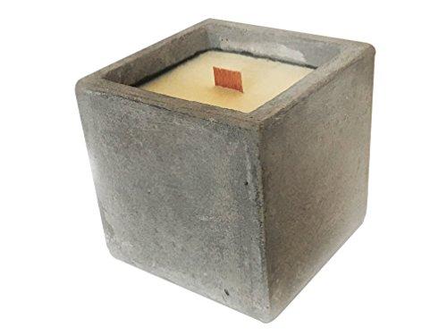 Monte Vitro Vela en Cubo de Concreto Aromatica Artesanal