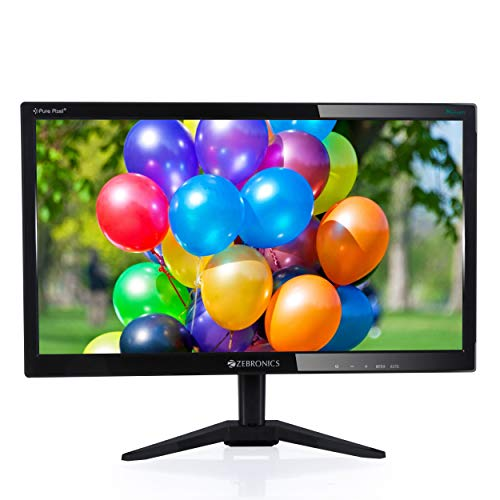 Zebronics 18.5(46.9cm) Monitor with VGA Port(Black)