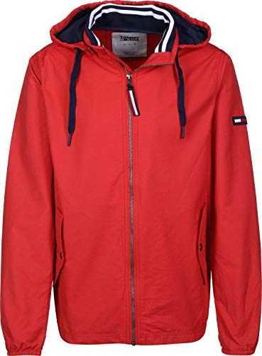 Hilfiger Denim Herren TJM Essential Hooded Jacket Jacke, Rot (Flame Scarlet 667), Small (Herstellergröße: S)