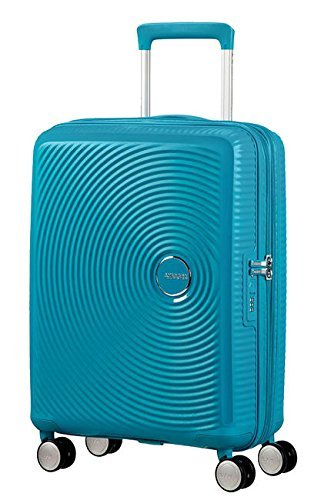 American Tourister Soundbox Spinner Equipaje de mano L (77 cm 110 L), Turquesa (Summer Blue)