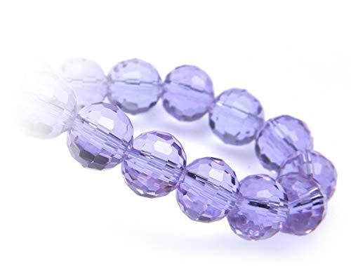 Creative-Beads Glasperle, Schliffperle, Perle 12mm 36 cm 36 Perlen, violett blue, zum selber machen von Ohrringe, Armbänder, Kette, basteln, gestalten, dekorieren