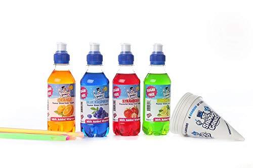 Snowycones Snow Cone Syrup 'Sugar Free' Flavour Syrup 4 x 250ml Orange,...