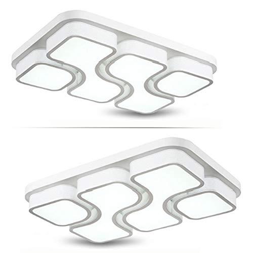 JINPIKER 78W Dimmbar LED Deckenleuchte Korridor Wohnzimmer LED Deckenlampe Schlafzimmer Deckenleuchten Energiespar Panel-Wandleuchte Elegant und großzügig