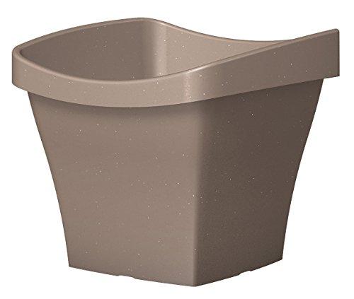 Scheurich 54240 261/50 Saluto Square Garden Flower Pot Living Taupe plastica 50 x 50 x 44 cm