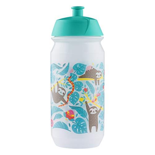 Baagl Escuela Botella para niñas y jóvenes, para deporte y ocio, botella de agua para guardería, sin BPA, 500 ml (perezador)