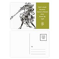 中国の傑作ロマンス 詩のポストカードセットサンクスカード郵送側20個