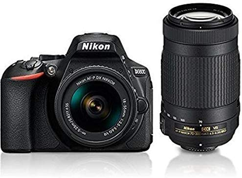 Nikon D5600 with AF-P 18-55 mm + AF-P 70-300 mm VR Kit with Bag and 16GB Memory Card Free product image