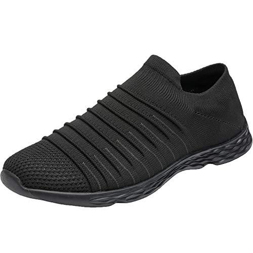 Ranberone Herren Laufschuhe rutschfeste Sneakers Atmungsaktive Leichte Fitnessschuhe für Jogging Gym Outdoor