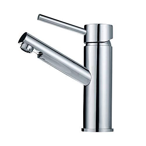 Auralum Bad Wasserhahn mit 3 Anschlüsse, Niederdruck Armatur Einhebel Waschtischarmatur für Wasserboiler