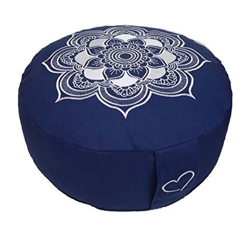 Meditationskissen Yogakissen Celine Madeleine mit Stickerei Bezug waschbar, gefülltes Innenkissen mit Bio-Dinkelspelzen 33 x 15 cm geeignet für...