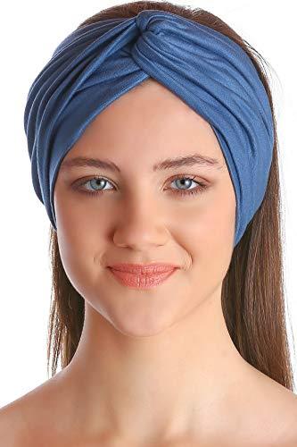 Deresina Headwear Classique Croix Bandeau pour les Femmes - Carolina Blue