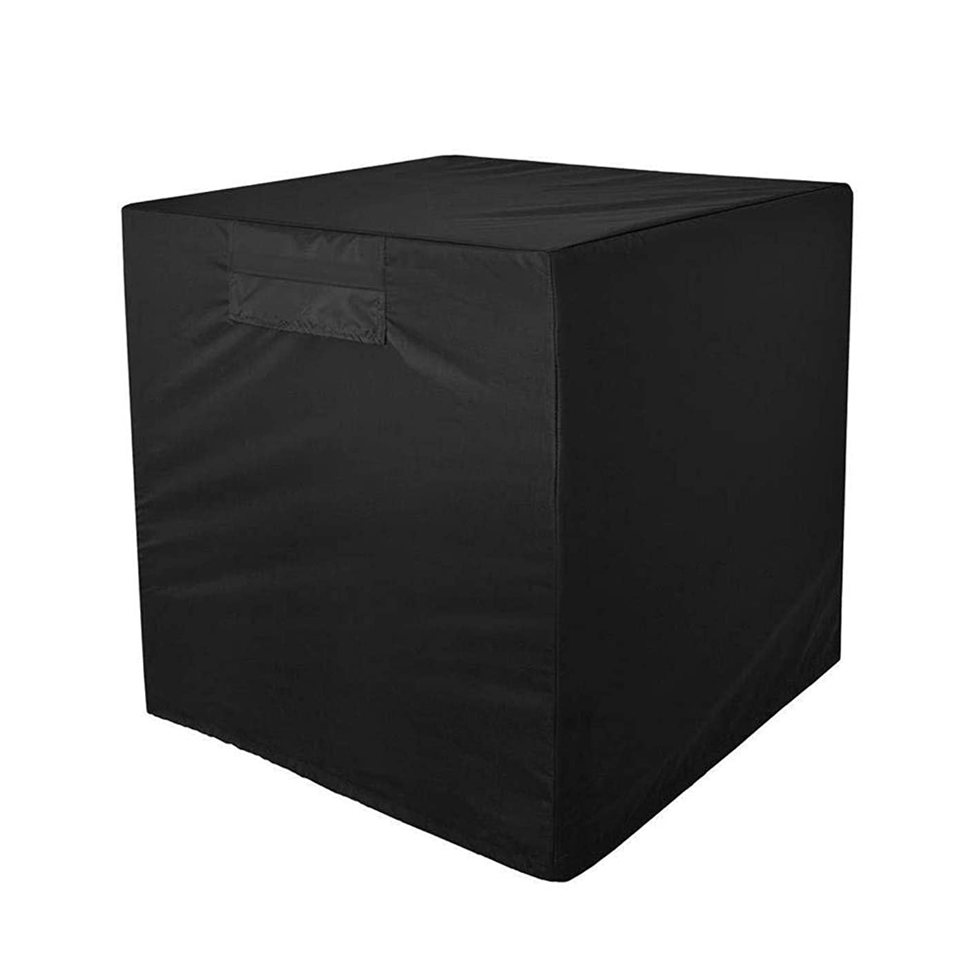 Wenini Air Conditioner Cover Outdoor Protective Cover Case Dust Net Cooling Fan Cover for Standard American Furniture Central Air Conditioner Outdoor Vent Full Cover (Square) Black (24x24x22 inch)