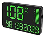 TONG Cabeza Universal GPS Velocímetro C90 HUD Pantalla de Velocidad Digital mph KM/H LED Proyector de Velocidad de Pantalla con Alarma de Exceso de Velocidad para Todos los vehículos Pantalla Digital