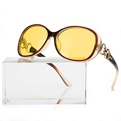 FIMILU Women Übergroße Nachtsichtbrille Blendfreie polarisierte Nachtsichtbrille für Autofahren / Nebel / Regen
