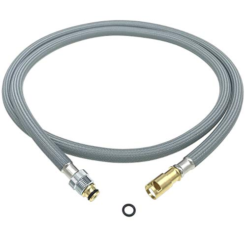 RP44647 Palo Hose Assembly for Delta Waterfall Pull-Out Kitchen Faucets 470/472/474/476 (Older Pre-2008 and Non-DST), Delta Signature Faucets Hose Replacement Part RP32527 with New O-Ring