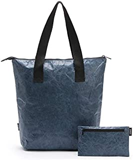 Tote Pouch Set Travel Tyvek Lunch Bags Packs 2pcs Darkblue