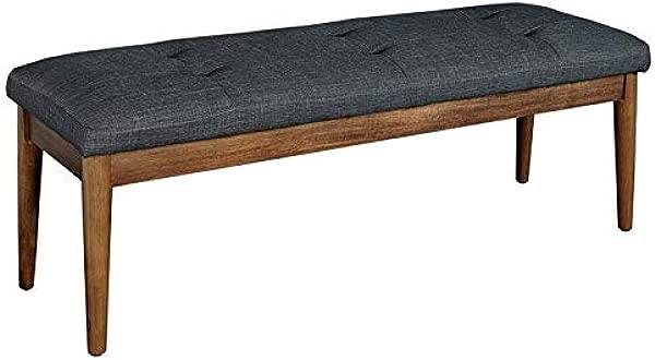 Linon Pike Dark Grey Bench